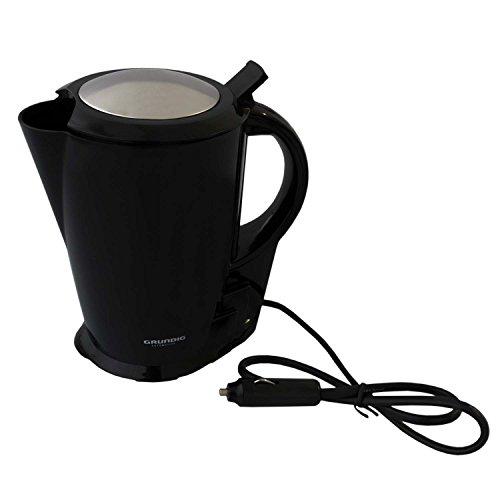 Preisvergleich Produktbild Mobiler Wasserkocher 1, 3 L für den LKW - Anschluss an Zigarettenanzünder - Schwarz 24V / 250 W - Reisewasserkocher Camping für Fernfahrer unterwegs Grundig