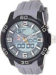 U.S. Polo Assn. US9474 Men's Quartz Watch, Analog-Digital Display and Stainless Steel S
