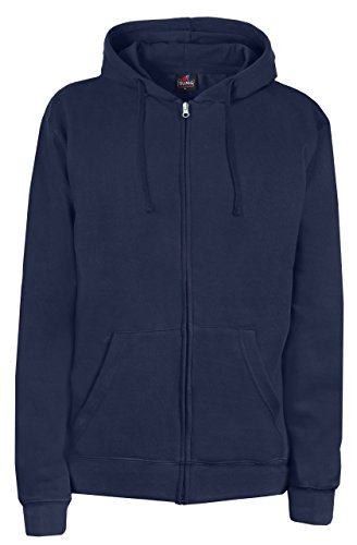 SUMG Apparel Unisex Kapuzenjacke Kapuzen Sweat-Jacke 'BASIC Hooded Zipper' (M, navy blau) (Kapuzenjacke Navy)