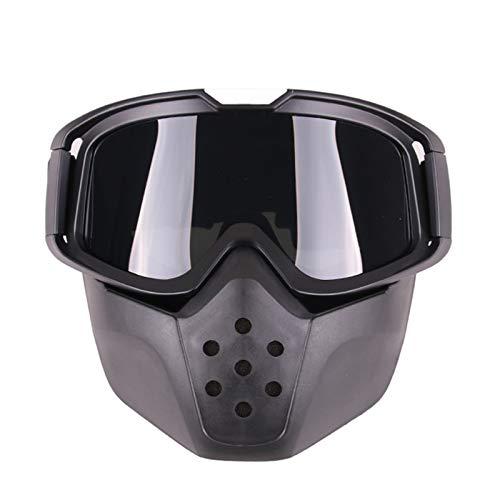 Sportsonnenbrille Damen Im Freiensportsand Retro Rennreitbrillen Motocross Brille Black Frame Grey Lens Damen Herren