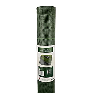 Seinec Malla Antihierbas Verde 2x5m. Resistente a roturas con Proteccion UV para el Control de Maleza en Jardín y Huertos Ecológicos, Ocultación. Polipropileno (PP)