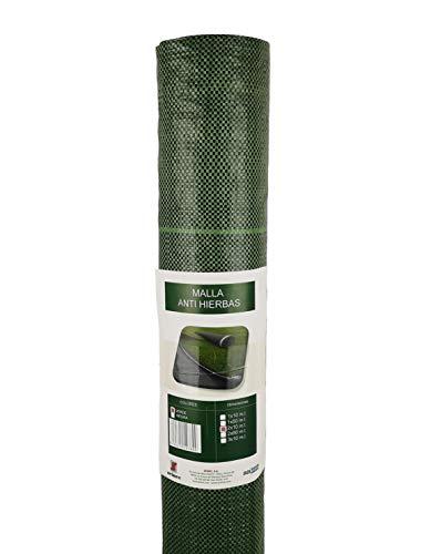 Seinec Malla Antihierbas Verde 20m² (2 x 10m). Resistente a roturas con Proteccion UV para el Control de Maleza en Jardín y Huertos Ecológicos, Ocultación. Polipropileno (PP)