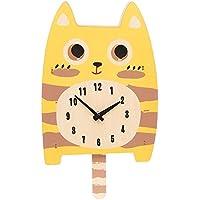Kidcraft - Reloj de madera para niños con diseño de gato con cola móvil
