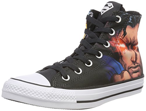 Converse Unisex-Erwachsene CTAS Hi White/Black Hohe Sneaker, Mehrfarbig (Black/White/Black 001), 46 EU