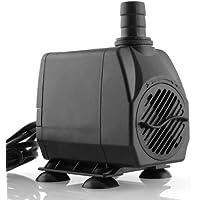 Amzdeal Pompa acqua Pompa sommergibile Pompa di circolazione,24W 3000L / H max Altezza 3m Pompa di fontana, stagno, acquario, acqua dolce e acqua dolce marina (black)