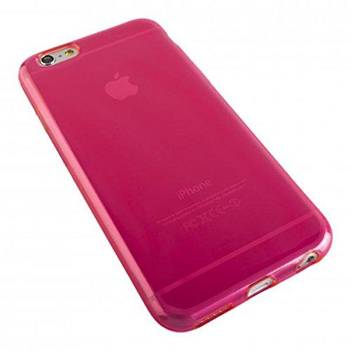 ECENCE APPLE IPHONE 6+ 6S+ PLUS (5,5) SILIKON TPU CASE SCHUTZ HüLLE HANDY TASCHE COVER SCHALE DURCHSICHTIG 12010503 Pink