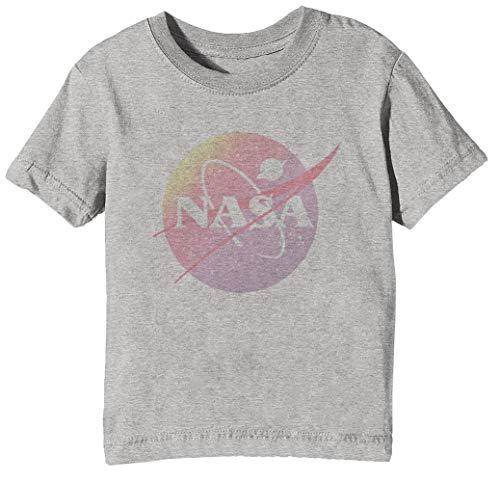 NASA Aesthetic - NASA Niños Unisexo Niño Niña Camiseta Cuello Redondo Gris...