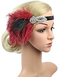 Anmain Sposa Fasce Per Capelli Headband Ballo Accessori Sposa Fascia Per  Capelli Stile Principessa Indiana Piume c023fa6a58b1