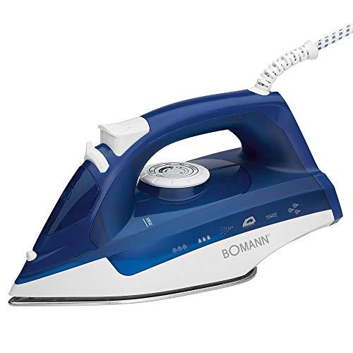 Bomann 660041 - Plancha (Plancha vapor-seco, Azul, Blanco, 2200 W, 220-240 V, 50/60 Hz)