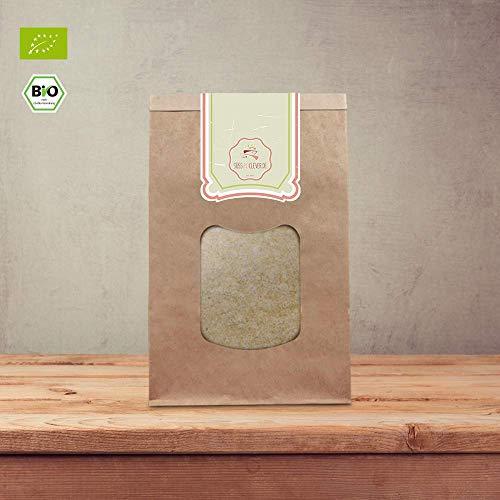 süssundclever.de® | Bio Kichererbsenmehl | 1 kg | plastikfrei und ökologisch-nachhaltig abgepackt | gemahlene Kicherbsen