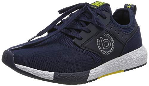 bugatti Herren 342518676900 Slip On Sneaker, Blau, 45 EU