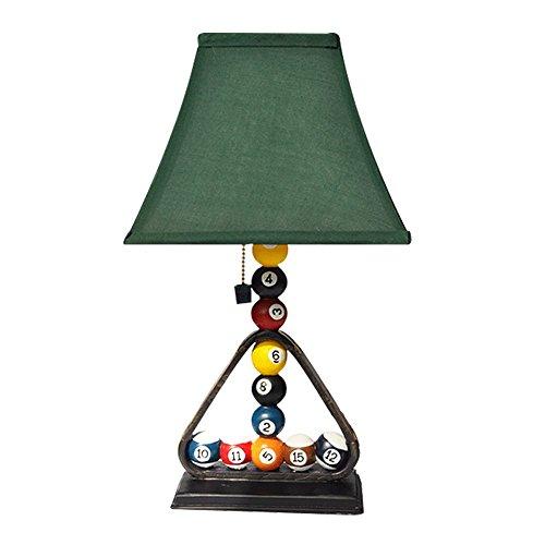 Grande lampe de table rétro créatifs Billard Lampe de table Plaisir Casual Coffee Shop Lampe de bureau Bar lampe, grande 45 cm & # x3 C6 ; 25 cm E27 (non incluses)