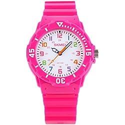 Sencee Fashion Cute niños niñas estudiantes muñeca relojes Casual relojes de pulsera Relojes Cuarzo Impermeable reloj rosa