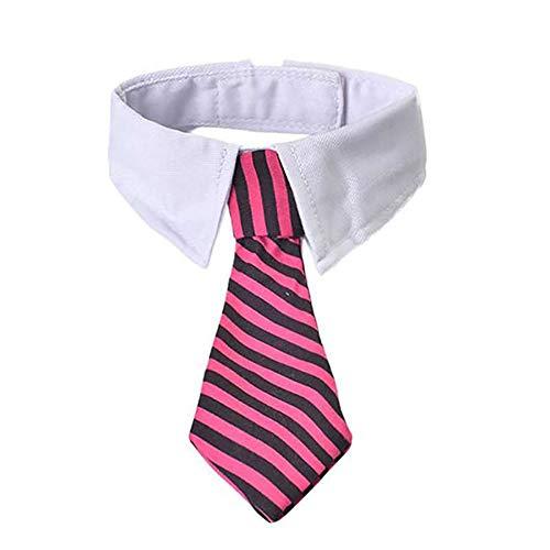 CVXBZB Pet Dog Tie Stripe Cat Bow Tie Puppy Necktie for Small Dogs Collar Grooming Bright Spot Pet Supplies,3 Stripe Bow Tie