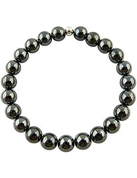 Sunsara Traumsteinshop Power-Armband - Hämatit magnetisch, Buddha-Armband, Heilstein Armband, Tikra, Arm Mala 38
