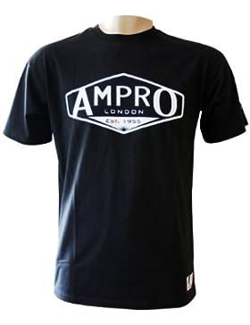 Ampro Londres–camiseta, azul marino, mediano