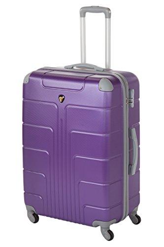 Coque Rigide Valises New York 2 pièces taille L + XL, 65 + 75 cm, 68 + 110 L 10 couleurs différentes Violet lilas L+XL