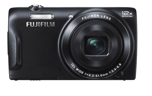 Fujifilm FinePix T500 Digitalkamera (16,2 Megapixel, 12-fach opt. Zoom, 6,9 cm (2,7 Zoll) LCD CCD Sensor, bildstabilisiert, USB 2.0) schwarz Ccd 2,7