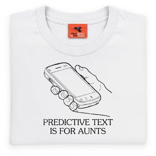 Predictive Text T-Shirt, Herren Wei