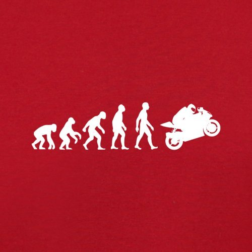 Evolution of Man - Superbike - Damen T-Shirt - 14 Farben Rot