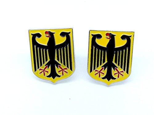 Deutsch Königlichem Wappen Kaiseradler Deutschland-Flaggen Cosplay Cufflinks Manschettenknöpfe + Geschenkkarton