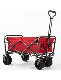 MZTYX Es Carro de Compras Portable Plegable, acampa el acoplado al Aire Libre de la Playa del Carro de…