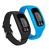 SURESELLER LIMITED LCD PEDOMETER WRIST WATCH BRACELET SPORT CALORIE STEP DISTANCE WALKING COUNTER FITNESS *FREE 2 MINI LUCKY LADYBIRDS*** (BLACK)