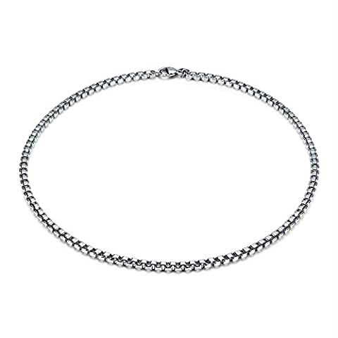 Box Link Venetian Chain Necklace - 18