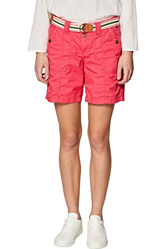 edc by ESPRIT Damen 039CC1C002 Shorts Rot (Berry Red 625) W38(Herstellergröße: 38) - Shorts Damen Cargo