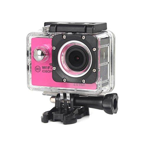 OverDose Neue WIFI Wasserdicht Full HD 1080P H16 Action Sport Kamera Camcorder DV (Hot Pink)