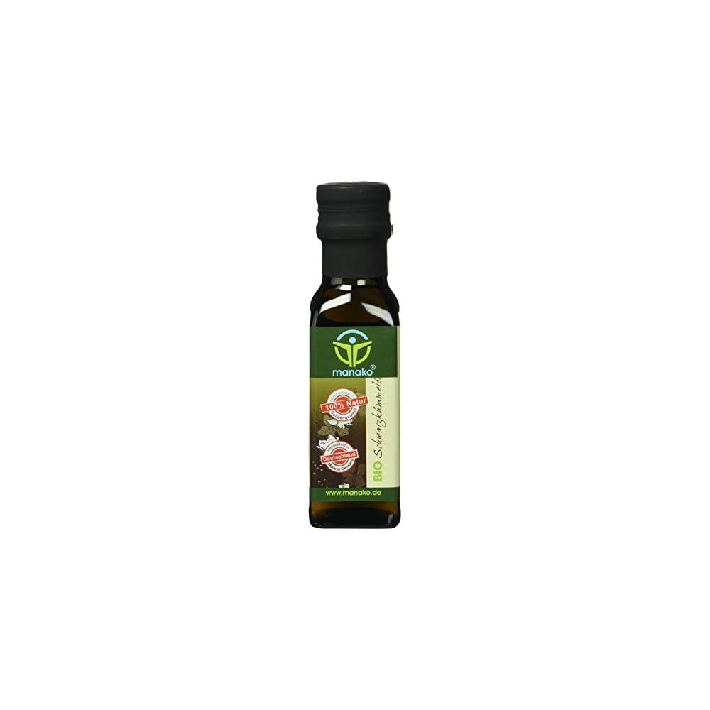 Manako Bio Schwarzkmmell Kaltgepresst 100 Rein 100 Ml Glasflasche 1 X 01 L