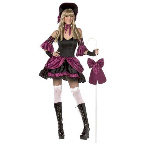 Womens Halloween Gothic Bo Peep Kostüm Small (UK 8-10) (Bo Peep Kostüm Kostüm)