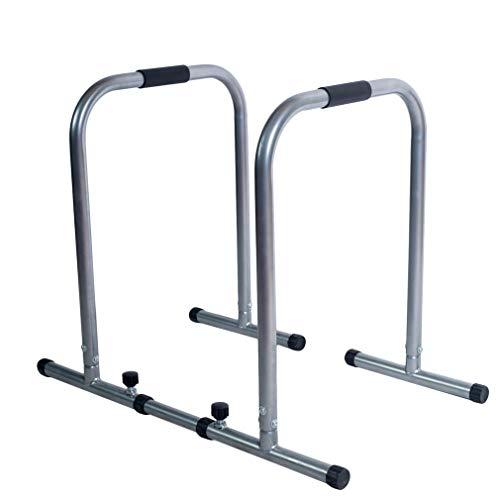 Kitechildhrrd Dip Barren Fitness Parallettes Push Up Stand Bar Dip Station Dip Bar bis 150 kg belastbar (Silber) (Stand Dip-station)