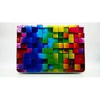 HYAIT 3d goffratura Colorful Cube Pattern policarbonato (PC) Ultra Sottile Custodia Rigida per Macbook Beige 11.6