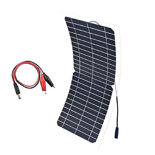 XINPUGUANG 10W 12V pannello solare flessibile monocristallino fotovoltaici modulo Caricabatterie da auto per cellulare(12V)