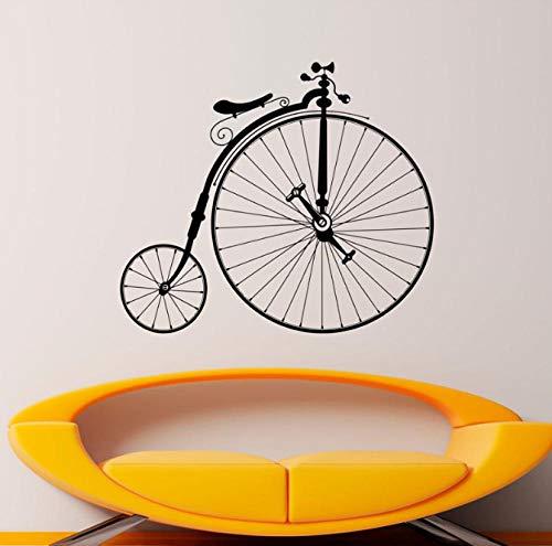 eber Hipster Wand Vinyl Aufkleber Sport Bike Home Schlafzimmer Dekor Wandbilder Retro Riesenräder Fahrrad Dekorationen 48X42 Cm ()