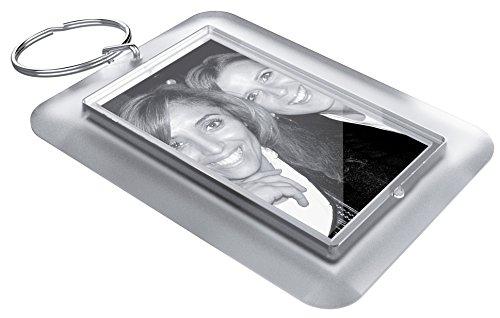 Acryl Schlüsselanhänger zum selber machen Sets im Ice-Look (50 x 30 mm, 10 Stk.) inkl. Druckbögen zum selbst gestalten mit Foto, Namen, Bild