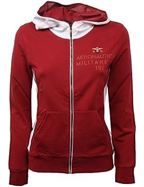 C0318 felpa donna AERONAUTICA MILITARE rosso sweatshirt woman