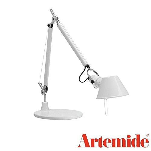 Artemide Tolomeo Micro Blanc brillant LED Lampe de table design 0011820 à 1987 Italy