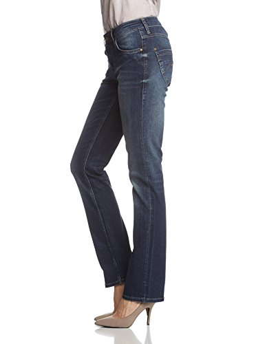 Mustang - Jeans - Droit Femme Bleu - Bleu foncé usé (582)