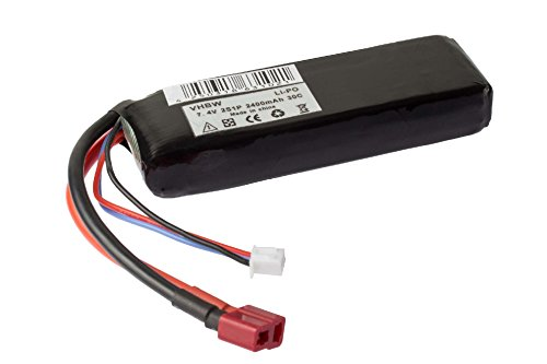Battery 2400mAh 7.4V Po-Li (lithium polymer) for radio control models, radio control cars, helicopters, aircraft, ships.