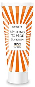 Omuci's Nothing To Hide Eco Friendly Sunscreen. Vegan Friendly, natural ingredients. UVA + UVB protection (100 ml, 30 SPF)