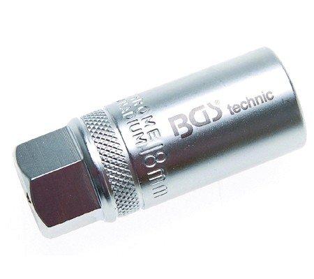 BGS Zündkerzen-Einsatz, 18 mm, mit Haltefeder, 2402