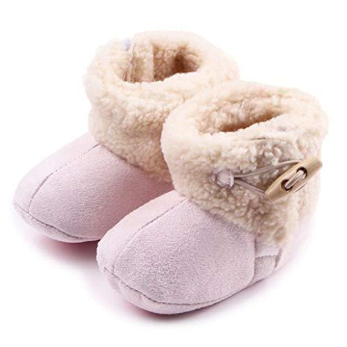 Auxma Baby schönen Herbst Winter warme weiche Sohle Schneeschuhe weiche Krippe Schuhkleinkind Stiefel (13cm(6-12 Monate), Rosa)