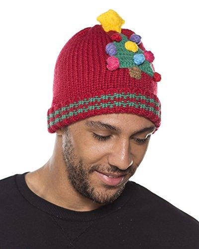 I-Smalls Bonnet Design Noël Festif Tricoté Homme (Arbre)