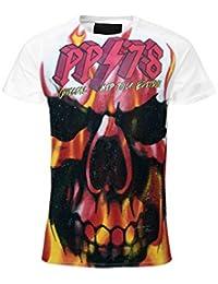 de30a1a210445 Philipp Plein T-Shirt Top Burning Skull White Limited Edition