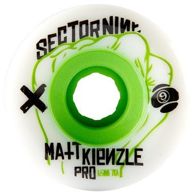 sector-9-matt-k-65mm-white-green-78a-skateboard-wheels-set-of-4-by-sector-9