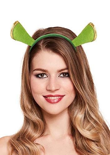 Kostüm Jungen Shrek Für - Kopfschmuck Haarreif mit Ohren Grün Oger Kostüm-Zubehör