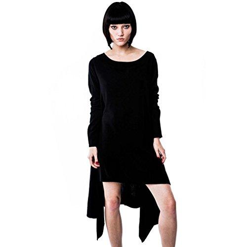Killstar Gothic Strickkleid - After Effect Kleid Langarm (XL)