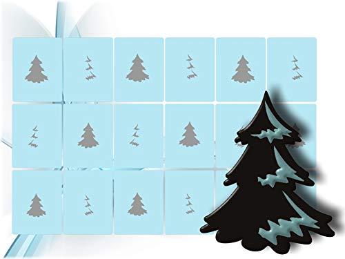 Airbrush Schablonen - Airbrushschablone - Nailart selbstklebend - Nail Art für Fingernägel, Weihnachten, x-Mas, Winter